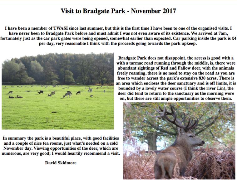 Twasi Visit to Bradgate Park November 2017