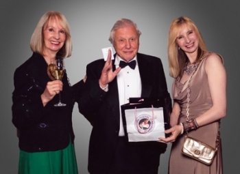 Sir David Attenborough with Polyanna Pickering