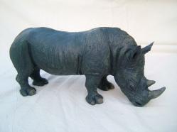 'Black Rhino' by Juliet Collins jcjuliet@googlemail.com https://www.isleofwightarts.com/artists/julietcollins/gallery/ https://www.facebook.com/JulietCollinsAnimalSculptures