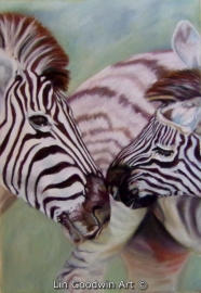 Lin Goodwin - Zebra Kiss lingoodwinart@gmail.com http://www.painters-online.co.uk/artist/LMG https://www.facebook.com/LinGoodwinArt