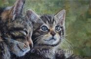 Neil Griffin - Scottish Wild Cat Mother and Kitten info@nealgriffinart.co.uk http://www.nealgriffinart.co.uk/