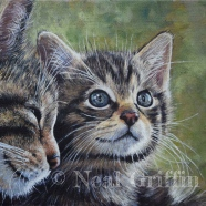 Neil Griffin - Scottish Wild Cat Mother and Kitten info@nealgriffinart.co.uk http://www.nealgriffinart.co.uk/