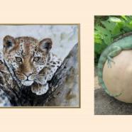 'Iguana and Leopard' by Jill Collier jillcolliervn@sky.com http://chestnutgallery.net/