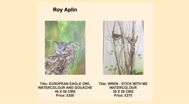 25th Anniversary 'Early Members' Exhibition Online Gallery The Atrium at Nature in Art 2017