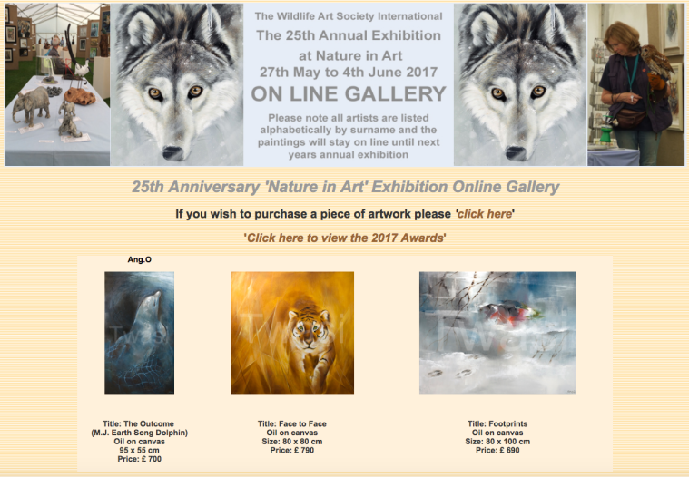 2017 Nature in Art Exhibition Online Gallery