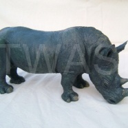 'Black Rhino' by Juliet Collins jcjuliet@googlemail.com https://www.isleofwightarts.com/artists/julietcollins/gallery https://www.facebook.com/JulietCollinsAnimalSculptures