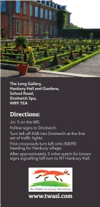 TWASI Hanbury Hall DL Poster Leaflet Directions