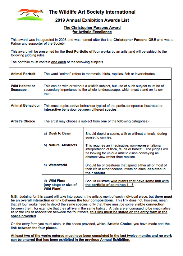 TWASI 2019 annual exhibition awards list pg1