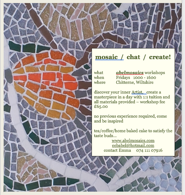 Mosaic Workshop Wiltshire 2019