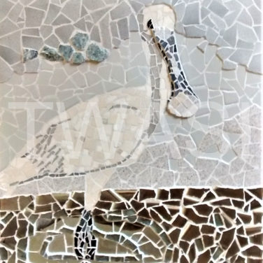 'Spoonbill' by Emma Abel eebable@hotmail.com https://www.abelmosaics.com