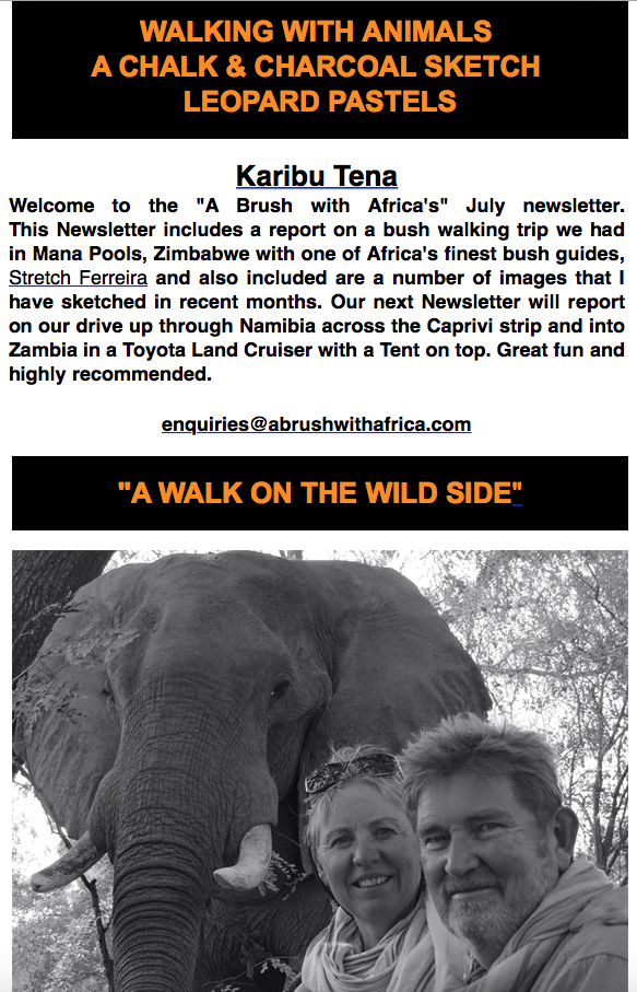 A Walk on the wild side Newsletter
