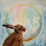 Hare Moongazing by Julie Wier julieweirart@aol.com https://www.julieweirart.co.uk