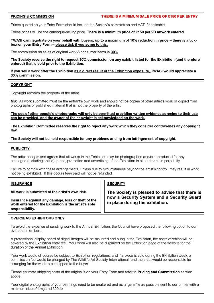3. Exhibition Regulations 2020 Page 2