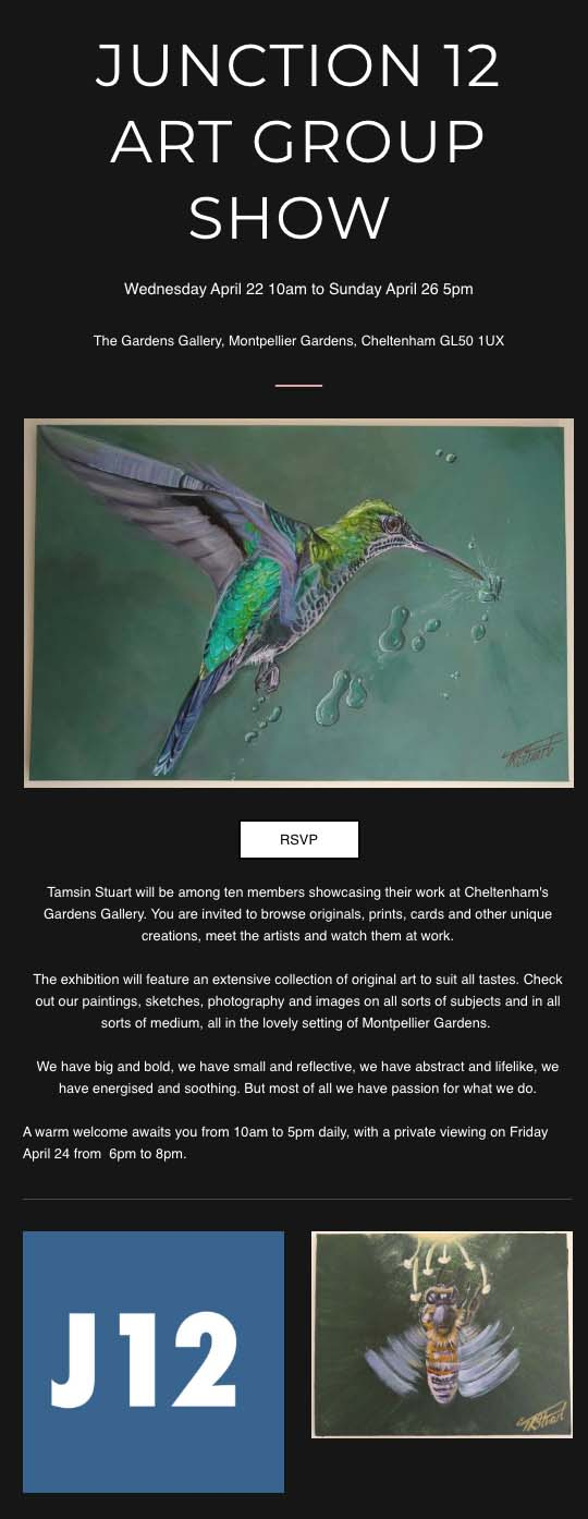 Junction 12 Art Group Show - Wednesday 22nd April 2020