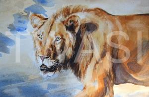 'Evicted' by Carol Barrett Watercolour Unframed Size 46 x 36cm £310