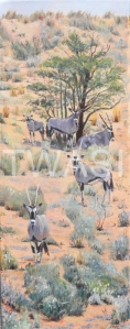 'Gemsbok Watching' by Christine Smith Acrylic 20 x 51 £185