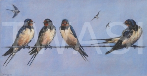 'On a High Wire' by Christine Smith Acrylic Unframed 38 x 20 £175