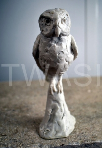 'Owl' by Elliot Channer Marble 15 x8 x7 £65