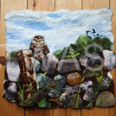 'The Dry Stone Wall' by Frances Daunt Unframed Felted 70 x 62 £400
