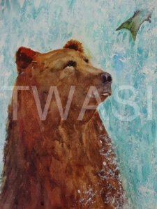 'Missed!' by Jan Watts Unframed watercolour 30 x 25 £350