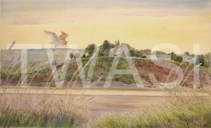 'Riverside hunter - Loop on the Severn' by John Horton Framed 88 x 65 Watercolour £395