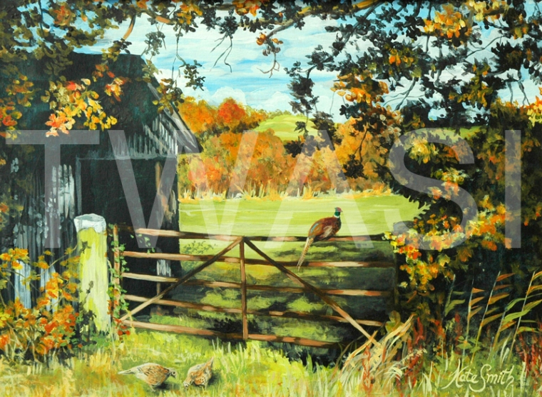 On the Gate' by Kate Smith Acrylic Framed 55 x 47 £110