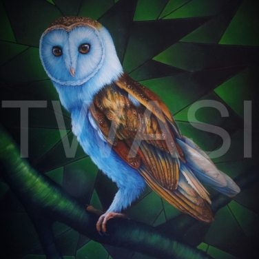 'Emerald Owl' by Laura Gibbons Oils On Board Framed 70 X 52 £495