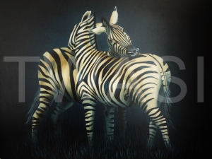'Ive got your back' by Laura Gibbons Oils on Canvas Framed 72 X 88 £590