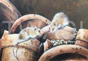 'Mice' by Marion Tuffrey Acrylic Unframed 26 x 32 £150
