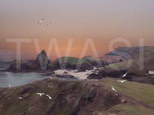 'Rocky Coast I' by Martin Raskovsky Digital Manipulated Photography Unframed and un-mounted 40x60 Price £180
