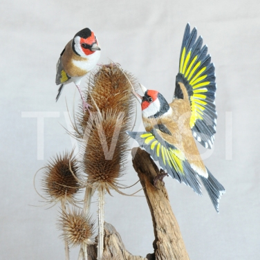 'Goldfinches' by Pam Knight Mixed media sculpture 31 x 20 x 18 £1,250