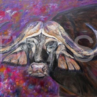 'Looking at You Looking at Me' by Ros Rouse Oil on canvas Unframed 51 x 41 £525