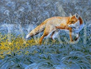 'Frosty Dawn' by Sarais Crawshaw Acrylic on canvas Unframed 36 x46 £350