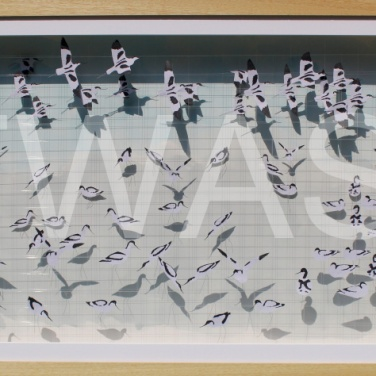 'Pied Avocets' by Sarah Trenchard 3D Paper and Wire Framed 86 x 56 x 7 £1030
