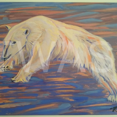 'Polar Stroller' by Tamsin Stuart Acrylic on unframed stretched canvas 40 x 30 £295