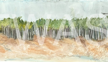 'Raven Beach' by Elle Salt Watercolour 17.5 x 40.5 £220