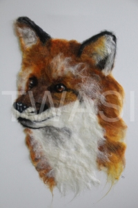 'Foxy' by Frances Daunt Size: 41 x 51 Felted on canvas £175