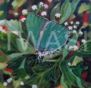 'Pretty in Green' by Gemma Waters Acrylic on box canvas 20 x 20 £105