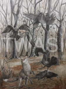 'Rook and Roll' by Victoria Parson Mixed Media Framed 59 x 78 £495