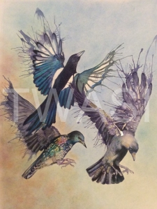 'Breakfast Time' by Victoria Parsons Mixed Media Framed 60 x 73 £495