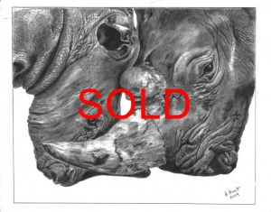 'Keep him Safe' by Ann Hunt Unframed 38 x 30 Graphite £320