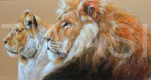 'Contentment' by Geoff Jennings Pastel Pencil Framed 57 x 107 £750