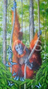 'Mesmerized' by Geoff Jennings Gesso and Acrylic Unframed 122 x 61 x 5.5 £1,200