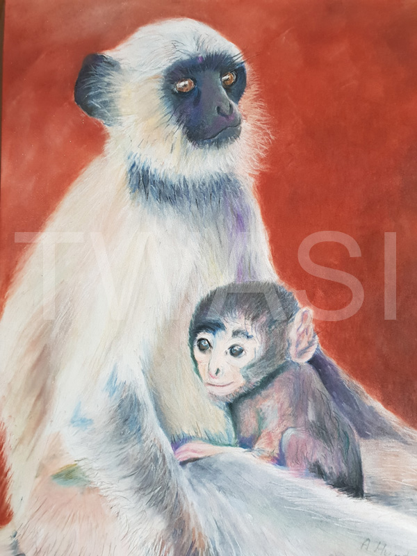 'Please save our home' by Ann Hunt Pastel 50 x 40 cms £245