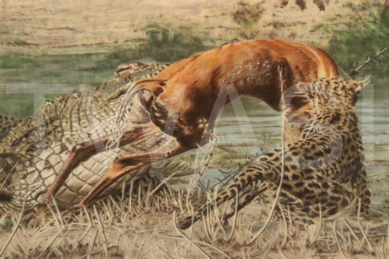 'Winner Takes All' by Nick Barker Pastel Framed 73 x 93 cms £2,000