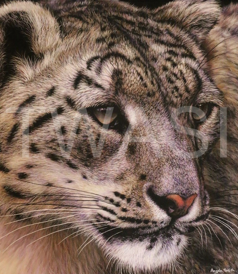 'The Waiting Game' by Angela May Smith Pastel 53 x 45cms £425